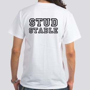 """Stud Stable"" Member's T-shirt (white)"